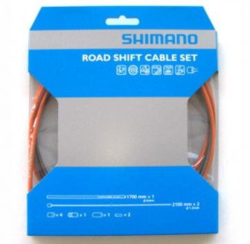 SHIMANO PTFE ROAD SHIFT CABLE & HOUSING SET ORANGE