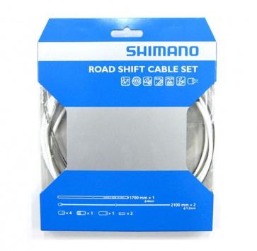 SHIMANO PTFE ROAD SHIFT CABLE & HOUSING SET WHITE