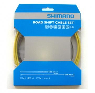 SHIMANO PTFE ROAD SHIFT CABLE & HOUSING SET YELLOW