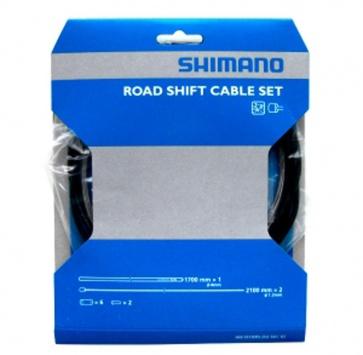 SHIMANO ROAD SHIFT CABLE & HOUSING SET x2 BLACK