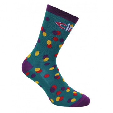 Cinelli Socks Caleido Dots Green