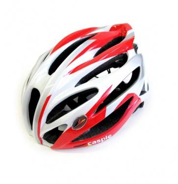 Caspie Super Light Cycling Helmet R-91 Wide Fit White Red