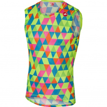 Castelli Pro Mesh Sleeveless Base Layer Fluo