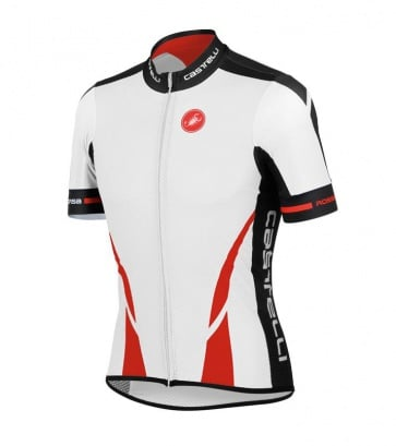 Castelli Climber's Jersey FZ White Red