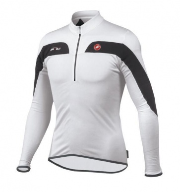 Castelli Fusione Fall Cycling Bicycle Jersey White