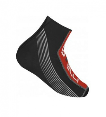 Castelli Immersione MTB shoes covers black red
