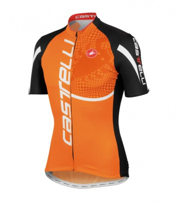 Castelli Punto Tre Jersey Orange