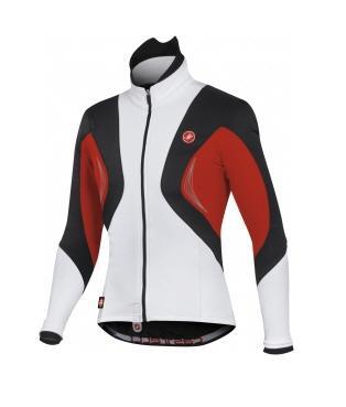 Castelli Stelvio WS jacket cycling windstop white black red