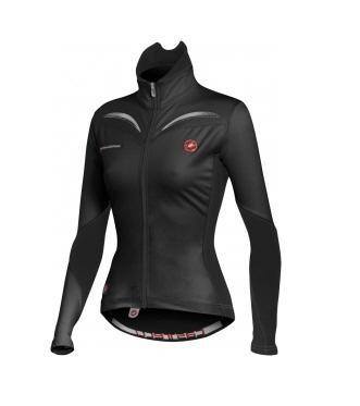 Castelli Transparente wind jersey FZ womens black