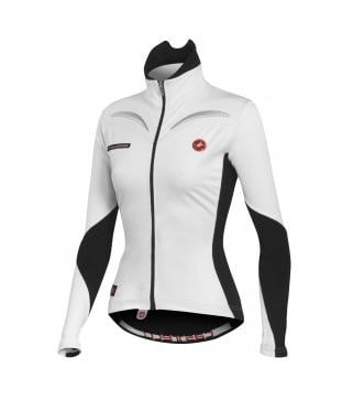 Castelli Transparente wind jersey FZ womens White Black