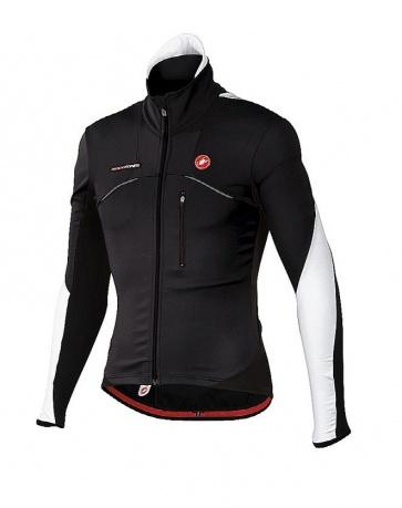 Castelli Trasparente wind jersey FZ cycling black white