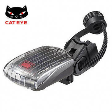 Cateye SL-LD210-R solar rear safety led light rechargable