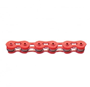 CHAIN 1SP 1/8 KMC K710SL HOLLOW PLATES/PIN RED