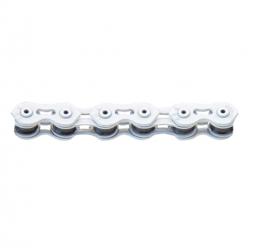 CHAIN 1SP 1/8 KMC K710SL HOLLOW PLATES/PIN  WHT