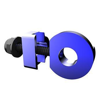 PROMAX C-2 CHAIN TENSIONER 10mm x 1 AXLE HOLE BLUE
