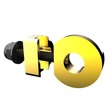 PROMAX C-2 CHAIN TENSIONER 10mm x 1 AXLE HOLE GOLD