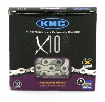 KMC X10.93 10-SPEED 116 LINKS SILVER