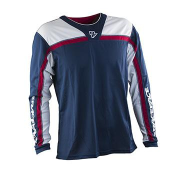 RaceFace Stage Jersey LS Blue Red