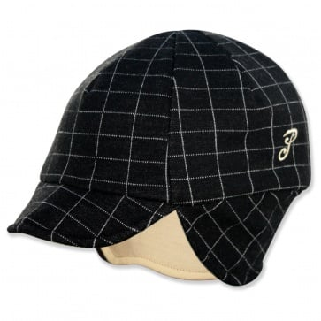 PACE REVERSIBLE WOOL HAT SQUARE PRINT/EGGSHELL