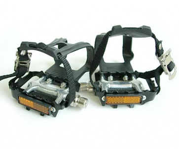 DHsports Alloy Sealed Bearing Clip Pedals black