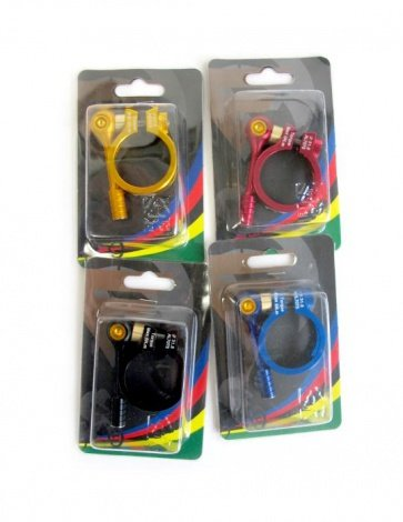 Far&near bicycle bike alloy qr seat clamp 31.8mm 4colors