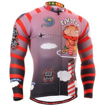 Fixgear Mens Bicycle Jersey Cycling Long Sleeves CS1601