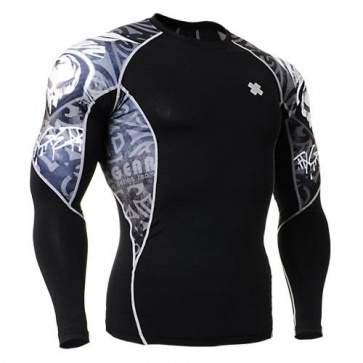 Fixgear Printed BaseLayer Compression Skin Top Tights C2L-B43-USGT