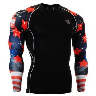 Fixgear Printed BaseLayer Compression Skin Top Tights CPD-B10-UG