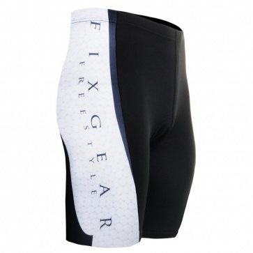 Fixgear ST-34 Mens Cycling Padded Shorts White