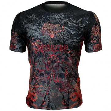Btoperform Anarchy Full Graphic Loose-fit Crew neck T-Shirts FR-348