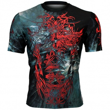 Btoperform Metal Tribal Full Graphic Loose-fit Crew neck T-Shirts FR-353