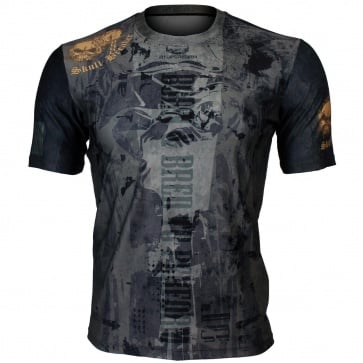 Btoperform Skull Breaker Full Graphic Loose-fit Crew neck T-Shirts FR-356