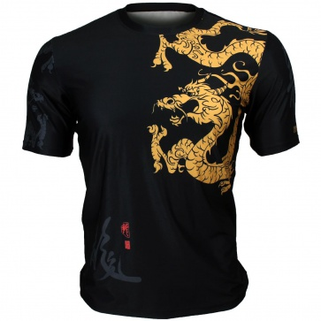 Btoperform Golden Dragon Full Graphic Loose-fit Crew neck T-Shirts FR-364
