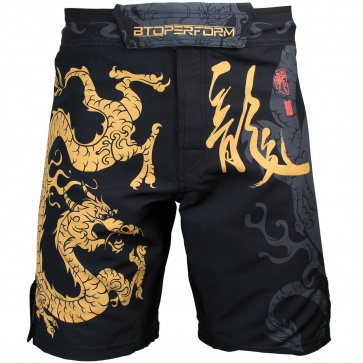 Btoperform Golden Dragon Full Graphic Mma Fight Cycling Shorts FS-64
