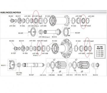 Fulcrum 4-R1-007 Ball Bearing