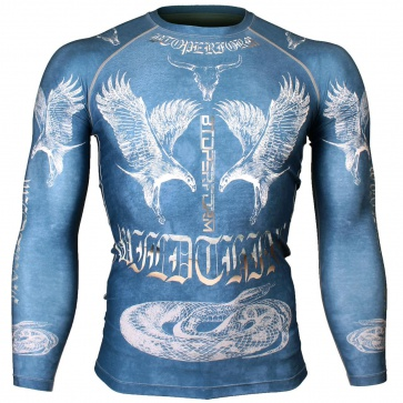 Btoperform Wild Thing - Blue Full Graphic Compression Long Sleeve Shirts FX-127B
