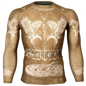 Btoperform Wild Thing - Yellow Full Graphic Compression Long Sleeve Shirts FX-127Y