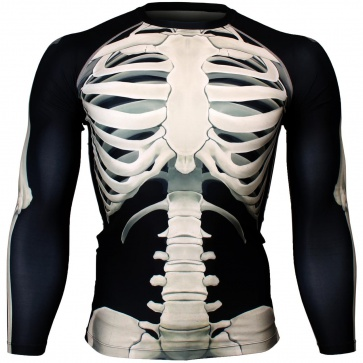 Btoperform Skeleton Full Graphic Compression Long Sleeve Shirts FX-128