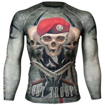 Btoperform Ghost Trooper Full Graphic Compression Long Sleeve Shirts FX-129