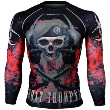 Btoperform Ghost Trooper - Red Full Graphic Compression Long Sleeve Shirts FX-129R