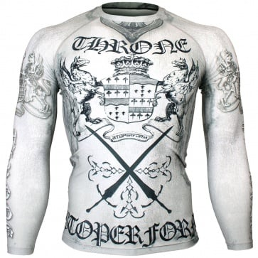 Btoperform Throne White Full Graphic Compression Long Sleeve Shirts FX-142W