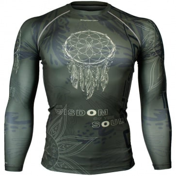 Btoperform Dreamcatcher Khaki Full Graphic Compression Long Sleeve Shirts FX-144H