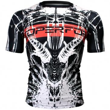 Btoperform Devil Horn Full Graphic Compression Short Sleeves Shirts FX-322