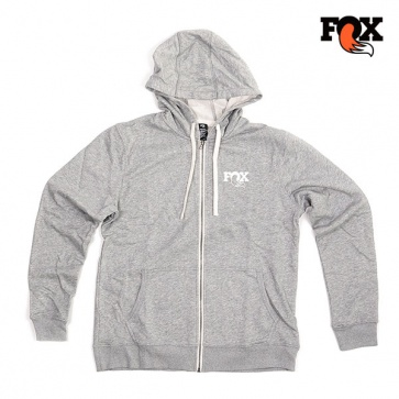 Fox Hoody Mens Grey Zip Up