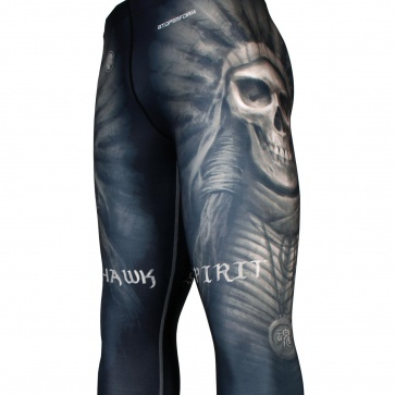 Btoperform No Retreat Thunder Blue FY-102K Compression Leggings Bottom MMA Tights