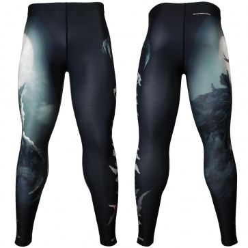 Btoperform Lycanthrope Full Graphic Compression Leggings FY-126