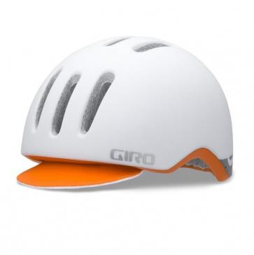 Giro Reverb Urban Cycling Helmet Matt White Orange