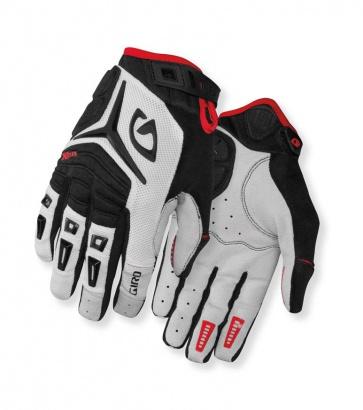 Giro Xen Mens Cycling Gloves White Black Red