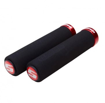 SRAM LOCKING FOAM GRIPS BLACK w/ RED CLAMP
