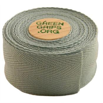 GREEN GRIPS ECO-FRIENDLY BAR TAPE WITH 2 WOODEN CORK END PLUGS PEARL GREY